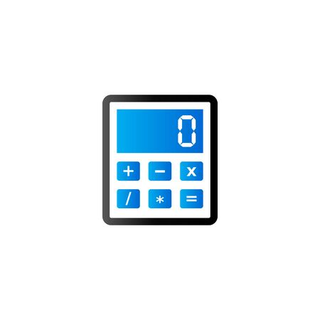 communication icons: Calculator icon in duo tone color. Calculate electronic finance Illustration