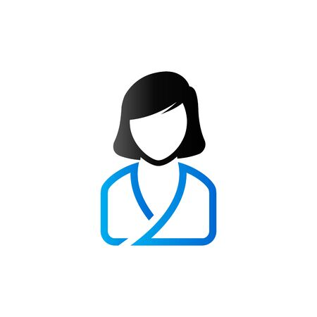 duo tone: Woman spa client icon in duo tone color. Illustration
