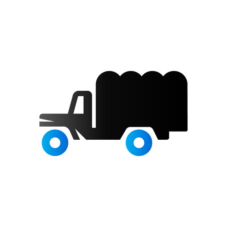world war two: Military truck icon in duo tone color. War transportation.