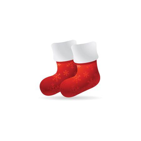 Christmas sock icon in color. Celebration season December