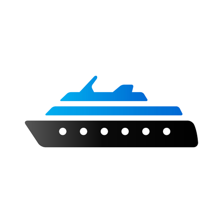 duo: Cruise ship icon in duo tone color. Holiday travel journey Illustration