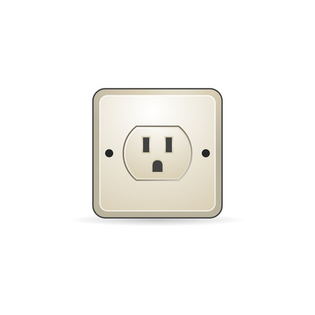 Electrical outlet icon in color. Electronic connect plug