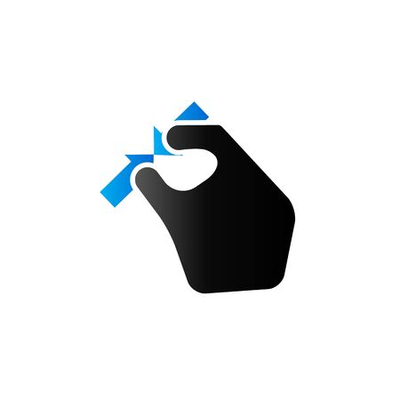 synaptic: Finger gesture icon in duo tone color. Gadget touch pad smartphone laptop Illustration