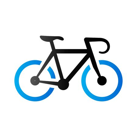 simple: Road bicycle icon in duo tone color. Sport race cycling