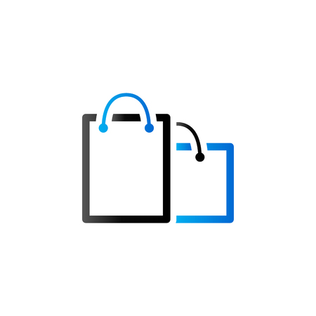 customer: Shopping bags icon in duo tone color. Buying ecommerce