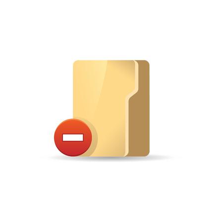 jobs: Folder icon in color. Computer files binder Illustration