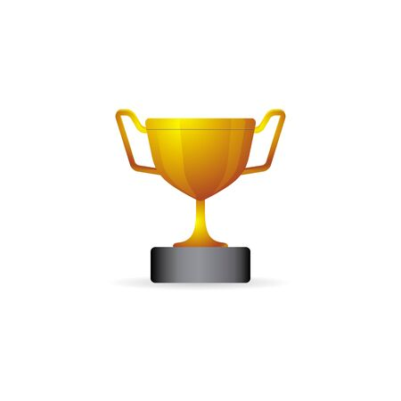 Trophy icon in color. Winner champion prize