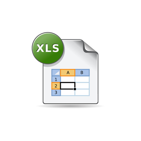 Spreadsheet file icon in color. Office report finance Фото со стока - 71633386