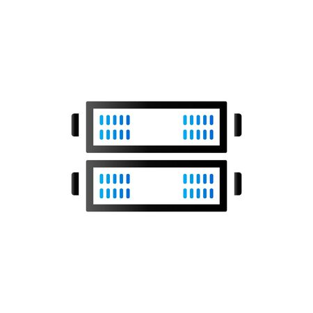 server rack: Server rack icon in duo tone color. Computer data file hosting