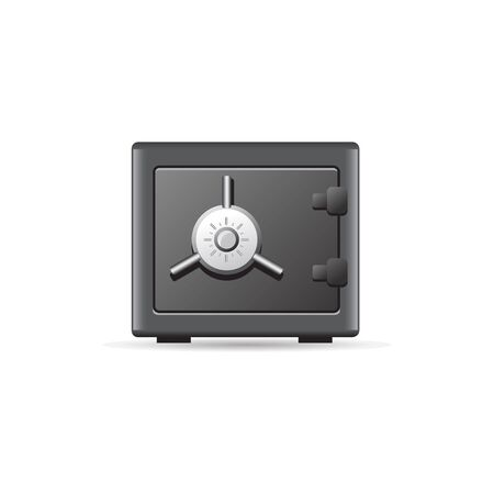 simple: Safe box icon in color. Bank money wealth store