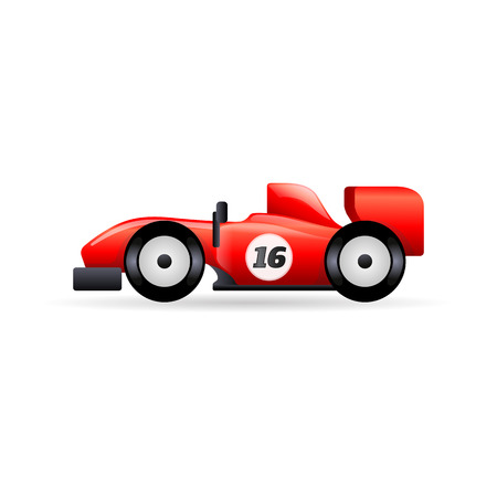 Race car icon in color. Rally sport circuit