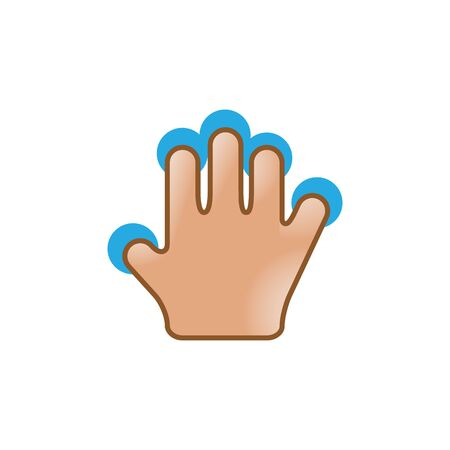 electronic: Finger gesture icon in color. Gadget touch pad smartphone laptop Illustration