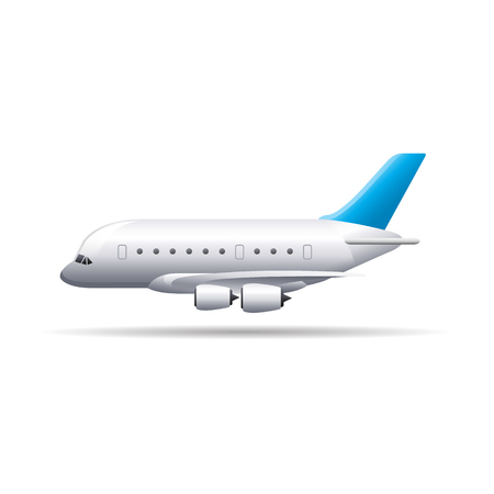 Airplane icon in color. Aviation transportation travel