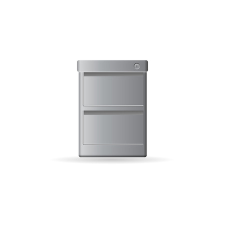 storage box: Office cabinet icon in color. Files document information
