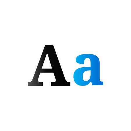 publisher: Font icon in duo tone color. Letter graphic design