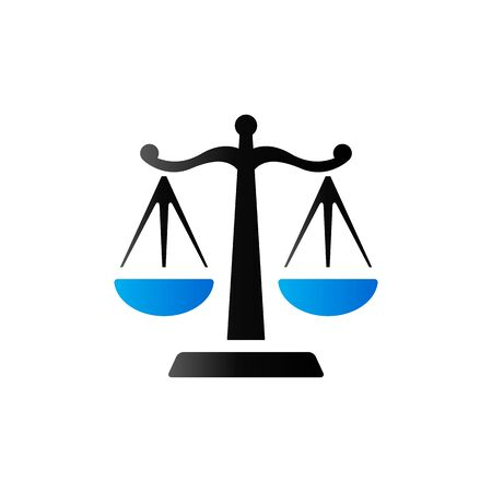 Justice scale icon in duo tone color. Law litigation balance
