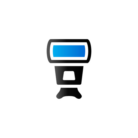 light reflex: Camera flash icon in duo tone color. Photography equipment lighting