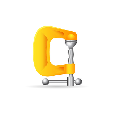 Clamp tool icon in color. Industrial mechanic automotive