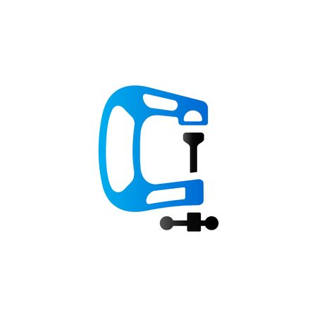Clamp tool icon in duo tone color. Industrial mechanic automotive Illustration
