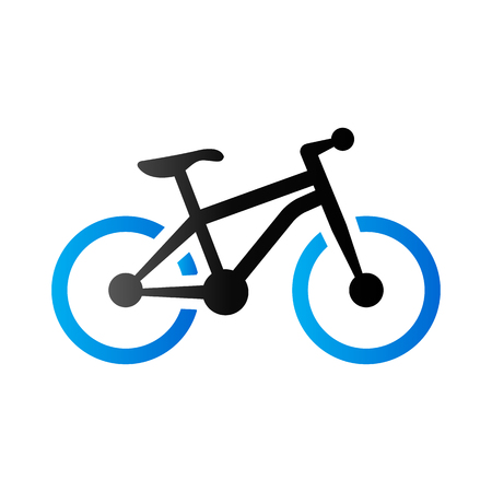 explore: Mountain bike icon in duo tone color. Sport explore bicycle Illustration