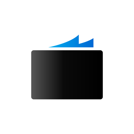 duo tone: Paper stack icon in duo tone color. Office business supply Illustration