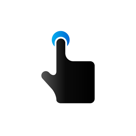 touch: Finger gesture icon in duo tone color. Gadget touch pad smartphone laptop Illustration