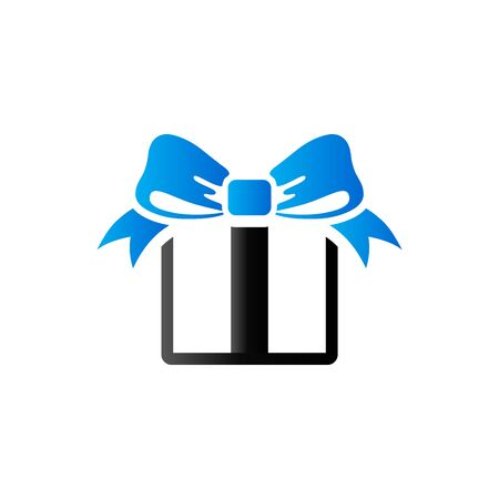 Gift box icon in duo tone color. Present birthday Christmas holiday Illustration