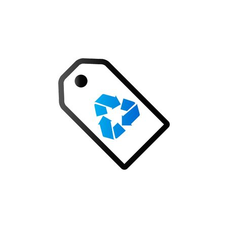 duo tone: Recycle symbol icon in duo tone color. Environment recyclable paper