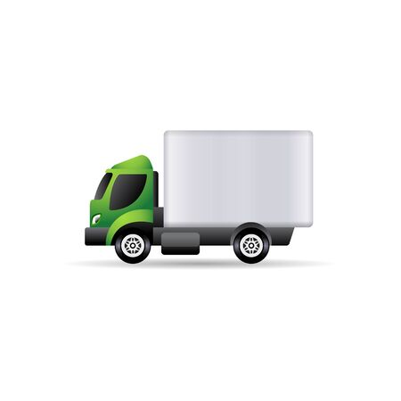 Truck icon in color. Freight transport logistic Illustration