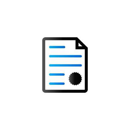 signing papers: Contract document icon in duo tone color. Agreement arrangement loan