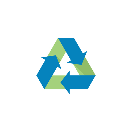 recycle icon: Recycle symbol icon in flat color style. Environment, go green