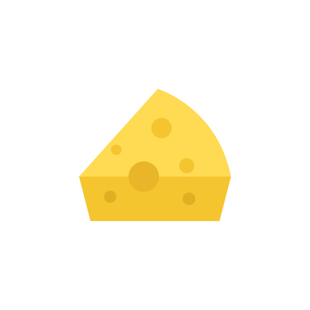 Cheese icon in flat color style. Food bakery ingredient healthy grocery camembert Cheddar gourmet