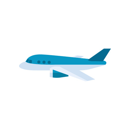 Airplane icon in flat color style. Aviation, take off, business travel