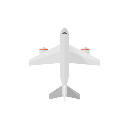 passenger transportation: Airplane icon in flat color style. Aviation transportation travel passenger commercial