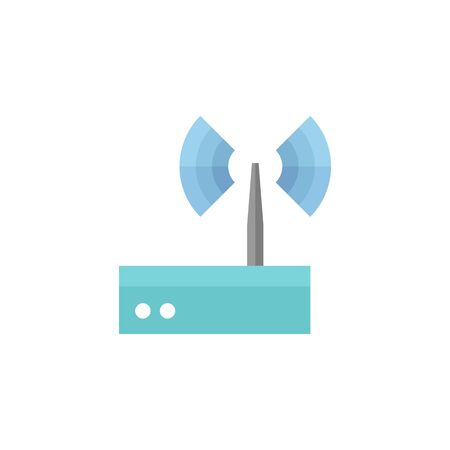 wireless signal: Router icon in flat color style. Internet connection, WiFi