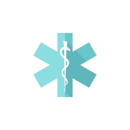 toxic substance: Medical symbol icon in flat color style.
