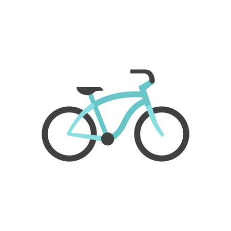 retro color: Low rider bicycle icon in flat color style. Sport transportation park city urban vintage retro Illustration