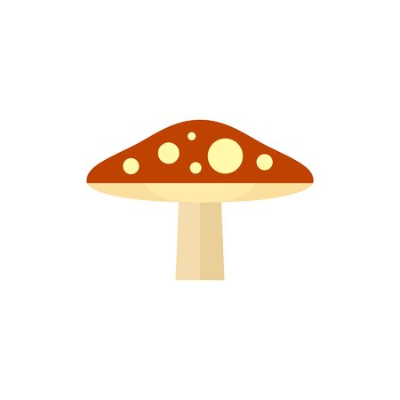 Mushroom icon in flat color style. Fungi autumn fall