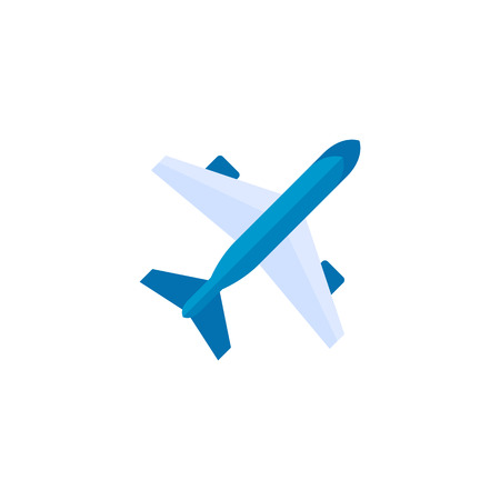 fleet: Airplane icon in flat color style. Aviation transportation take-off travel passenger