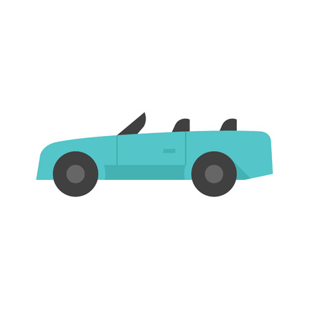 Sport car icon in flat color style. Luxury speed coupe automotive convertible
