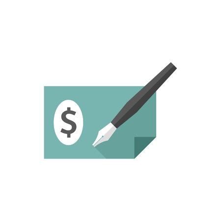 security: Check icon in flat color style. Money banking buying finance