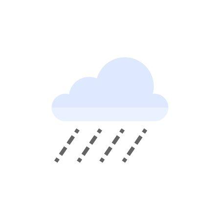 cloudburst: Rain cloud icon in flat color style. Season forecast