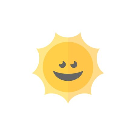 Weather forecast sunny icon in flat color style. Illustration