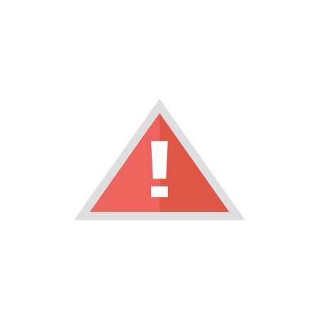 hazard sign: Warning sign icon in flat color style. Beware notice triangle safety security