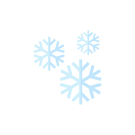 ice: Snowflake icon in flat color style. Nature snowflakes winter December