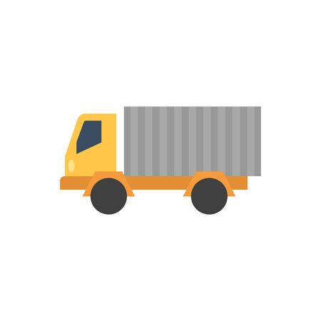 transport truck: Truck icon in flat color style. Freight, transport, logistic, delivery Illustration