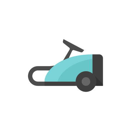 white work: Vacuum cleaner icon in flat color style. Home house appliance household working tool Illustration