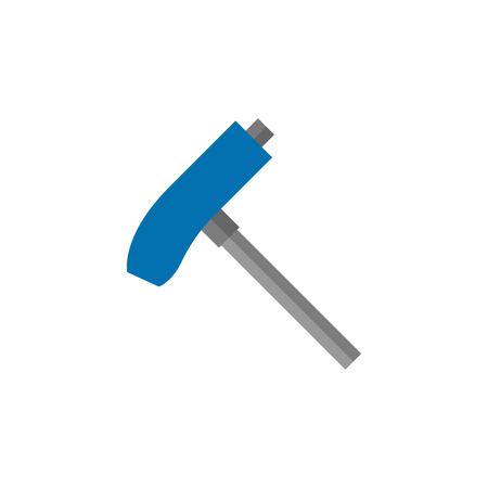 Allen key icon in flat color style. Sport transportation repair maintenance tool equipment