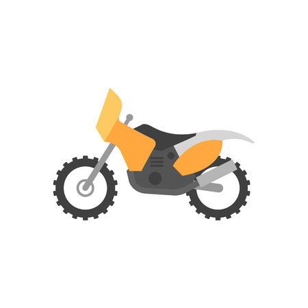 Motocross icon in flat color style. Rally offroad desert extreme sport outdoor Illustration