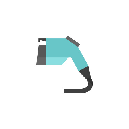 car: Electric vehicle charger icon in flat color style. Eco friendly car outlet